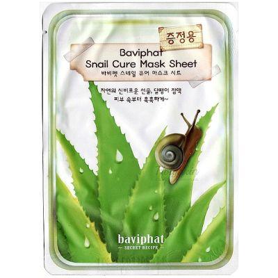 Baviphat Маска тканевая улиточная Baviphat Snail Cure Mask Sheet 25гр