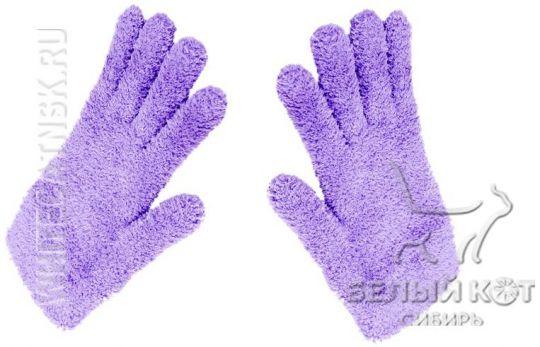 Комплект из 2-х универсальных перчаток Nano Sliced лиловых 21 х 12 см