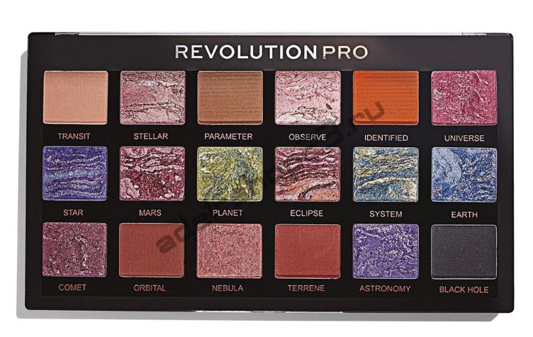 "MakeUp Revolution - Тени для век Pro ""Trends celestial"" 18 цв"