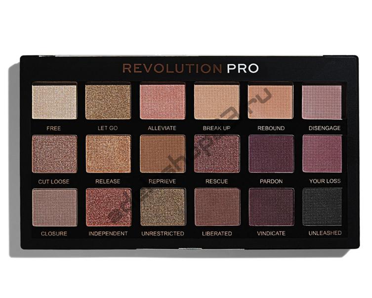 "MakeUp Revolution - Тени для век Pro ""Unleashed"" 18 цв"