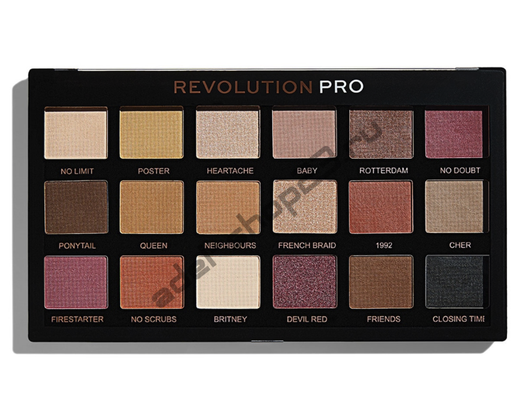 "MakeUp Revolution - Тени для век Pro ""Restoration"" 18 цв"