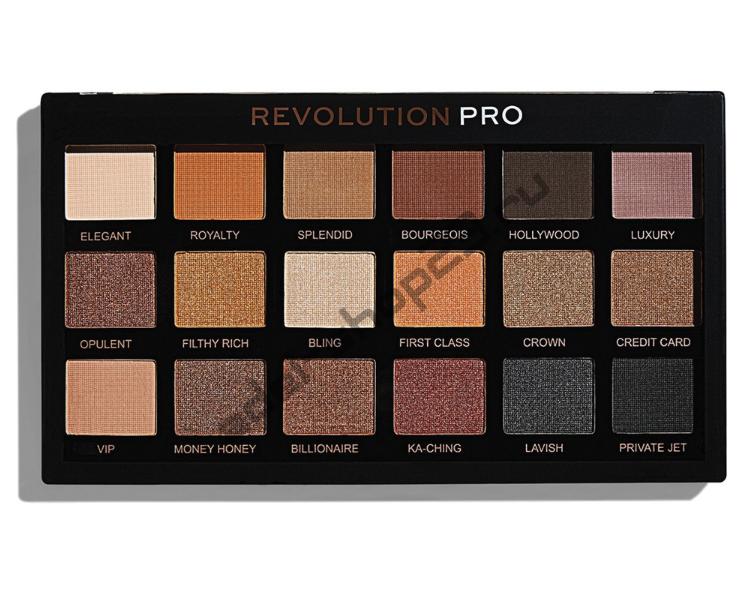 "MakeUp Revolution - Тени для век Pro ""Goldmine"" 18 цв"
