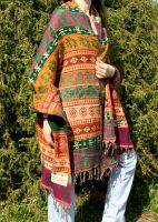 Непальский теплый плед шаль, фото