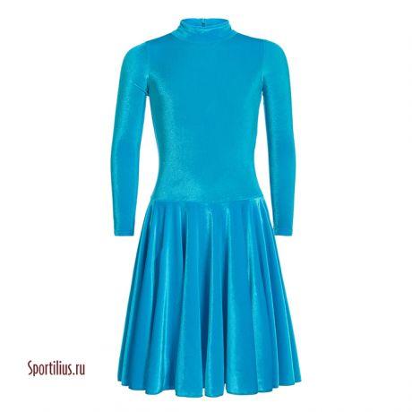 Платье бархатное для бальных танцев