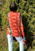 Красный плед шаль. Товары из Непала и Индии в наличии в Москве. Интернет магазин, шоурум