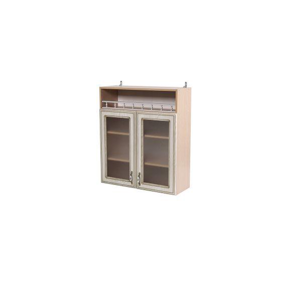 Шкаф навесной со стеклом ШКН 800В Анжелика