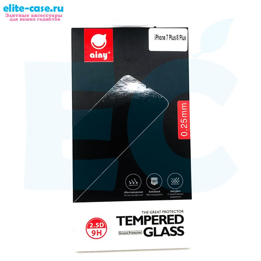 Защитное стекло Ainy GLASS для Apple iPhone 8 Plus 0.25mm