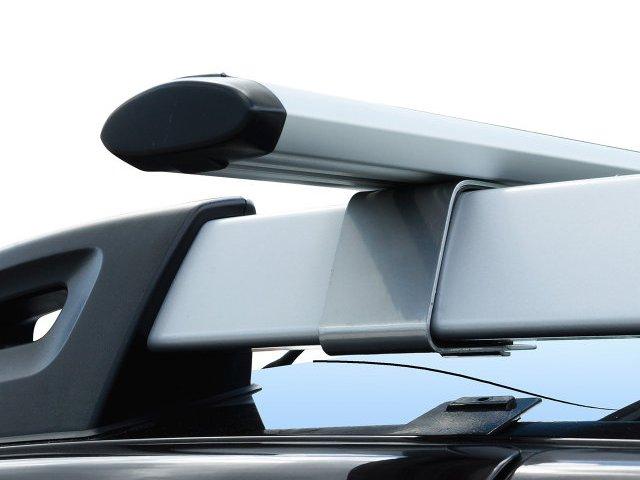 Багажная система на рейлинги Renault Duster 2 (2015-...), Delta, серебристый, аэродинамические дуги