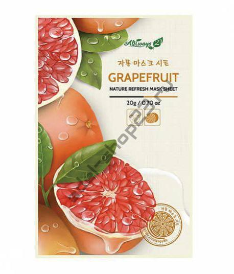 Always21 - Тканевая маска для лица Grapefruit