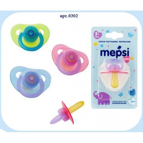 Mepsi Соска-пустышка латексная анатомическая, 3+