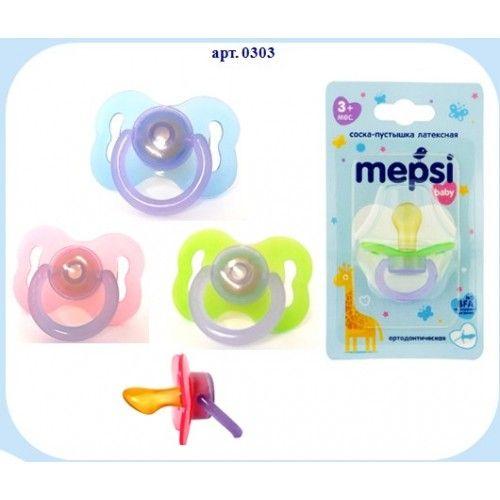 MEPSI Соска-пустышка латексная ортодонтическая, 3+