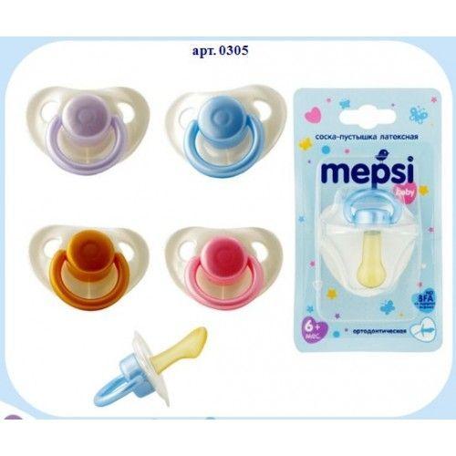 MEPSI Соска-пустышка латексная ортодонтическая, 6+
