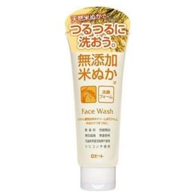 Очищающая пенка для лица ROSETTE с экстрактом рисовых отрубей для чувствительной кожи, без парабенов и отдушки, туба 140 г.