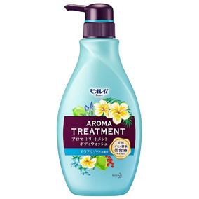 """Увлажняющий и смягчающий гель для душа КAO """"Biore U"""" Aroma Treatment с ароматом цветов и фруктов, диспенсер 480 мл."""
