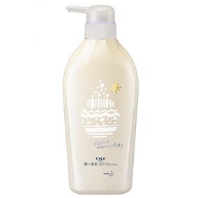"""Увлажняющий гель для душа с аминокислотами KAO """"Biore U"""", аромат жасмина и королевского мыла, диспенсер 480 мл."""