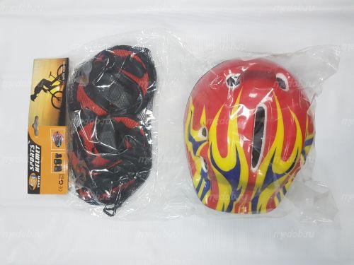 Комплект защиты+ шлем для гироскутера Красный
