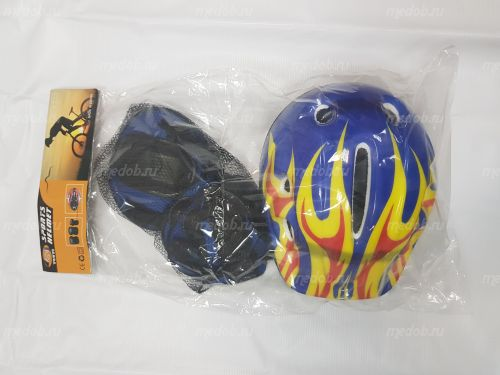 Комплект защиты+ шлем для гироскутера Синий