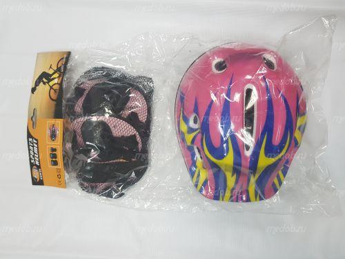 Комплект защиты+ шлем для гироскутера Розовый