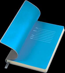 серые с голубым бизнес блокноты Funky