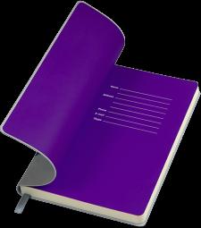серые с фиолетовым бизнес блокноты Funky