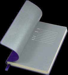 фиолетовые с серым бизнес блокноты Funky