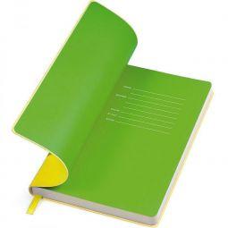 желтые с салатовым бизнес блокноты Funky