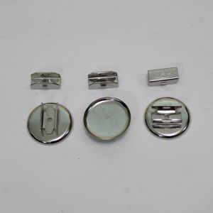 Основа для резинки, металл, размер 25 мм, цвет серебро (1уп = 50шт)
