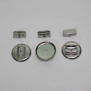 `Основа для резинки, металл, размер 25 мм, цвет серебро