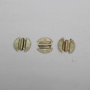 `Основа для резинки, металл, размер 20*18 мм, цвет золото