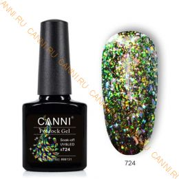 Гель-лак CANNI Peacock gel 724