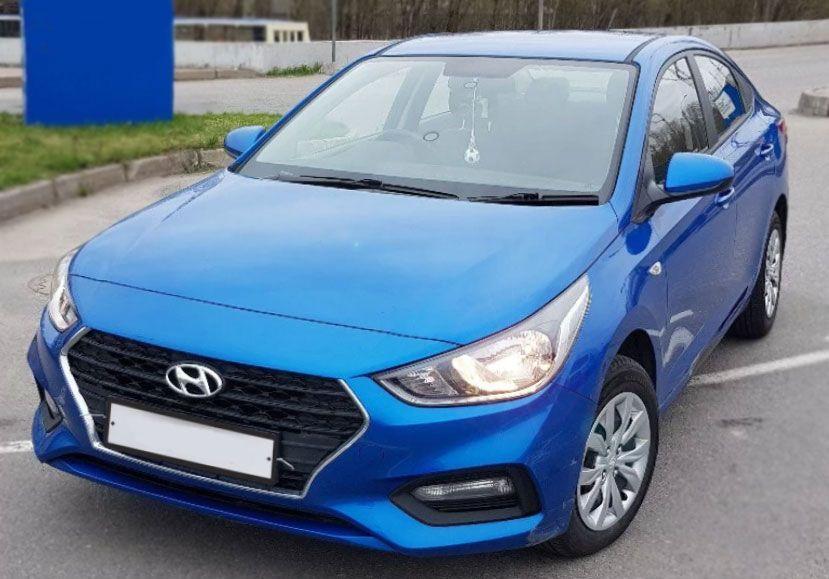 Hyundai Solaris 2018 г. Автомат (синий)