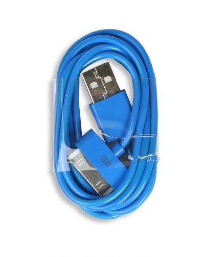 Шнур iPhone 4 - USB Smartbuy (синий)