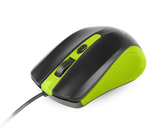 Мышь проводная Smartbuy ONE 352 зелено-черная