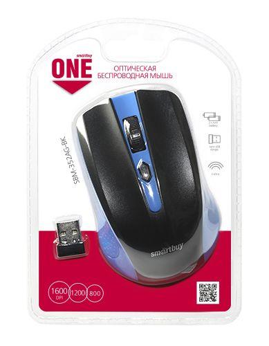 Мышь беспроводная Smartbuy ONE 352 сине-черная
