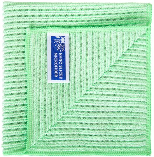 Салфетка Ребристая 32 х 31 см зелёная
