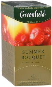 Чай Greenfield Summer Bouquet со вкусом и ароматом малины 25 пак.
