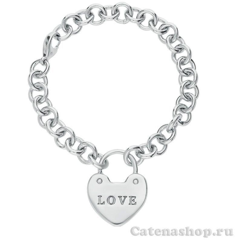 """Браслет серебряный """"Love"""""""