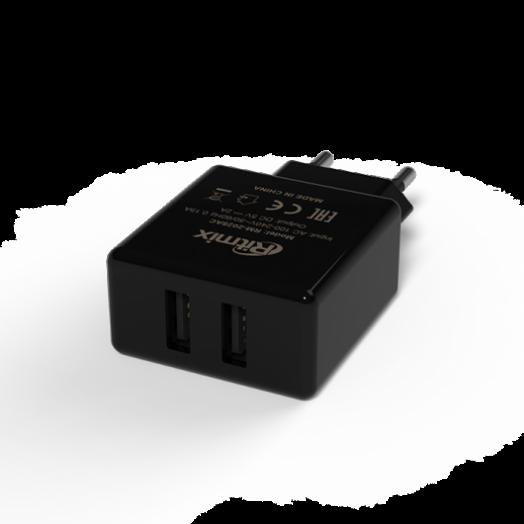 Вилка USB Ritmix RM-2025AC (2 А)