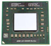 Процессор мобильный AMD A4 3300M - FS1, 2 ядра/2 потока, 1.9-2.5 GHz, TDP-65W [1182]