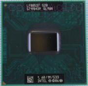Процессор мобильный Intel Celeron M 520 (SL9WN) - 478, 65 нм, 1 ядро/1 поток, 1.6 GHz, TDP-30W [433]
