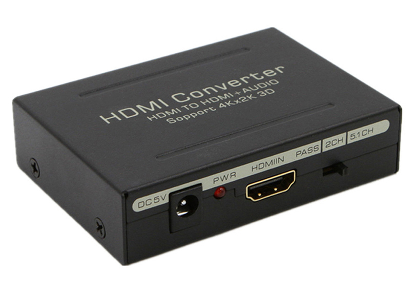 Разделитель сигнала HDMI to HDMI+Audio(Spdif+L/R) Extractor 2CH/5.1CH 4K 3D