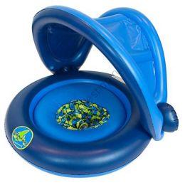 Универсальный надувной круг с навесом 2-IN-1 BABY BOAT для Мальчиков
