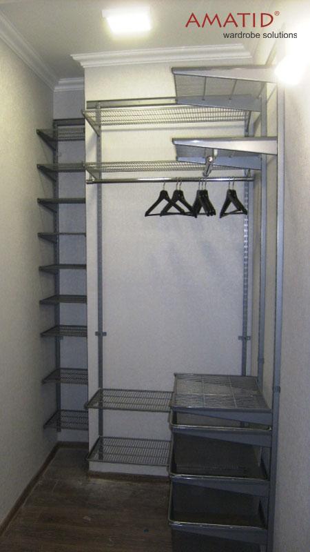 Гардеробная в прихожей, размеры — Ш1400 х Г1400 х В2700