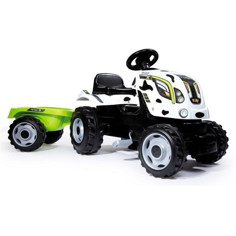 Трактор педальный Smoby XL с прицепом 710113