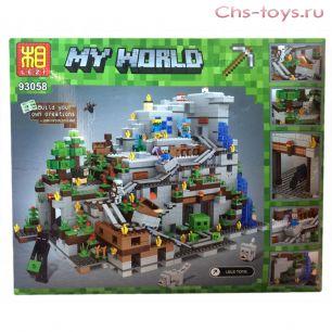 Конструктор LEZI My World Горная пещера 93058 (Аналог LEGO Minecraft 21137) 2018 дет.