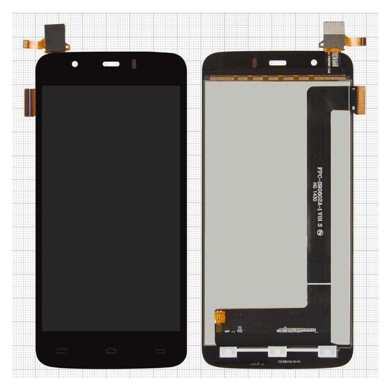 LCD (Дисплей) Fly IQ4414 EVO Tech 3 Quad (в сборе с тачскрином) (black) Оригинал