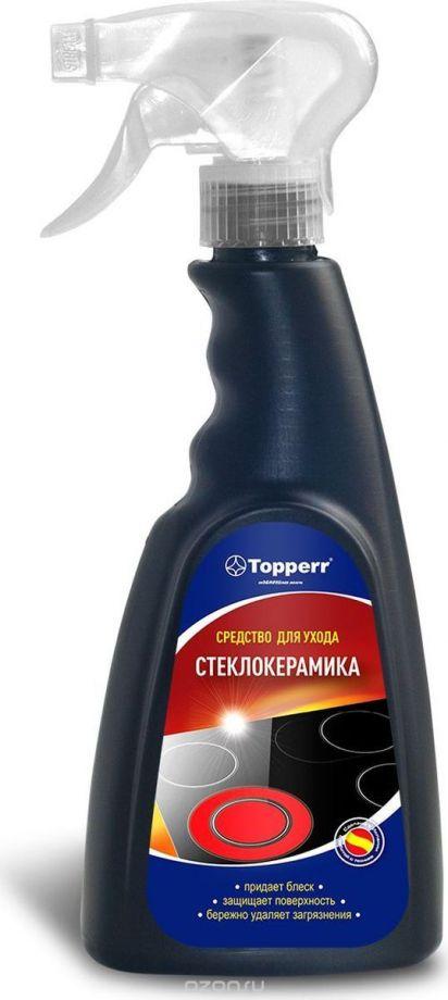 """Очиститель """"Topperr"""", для стеклокерамических поверхностей, спрей, 500 мл (3431)"""