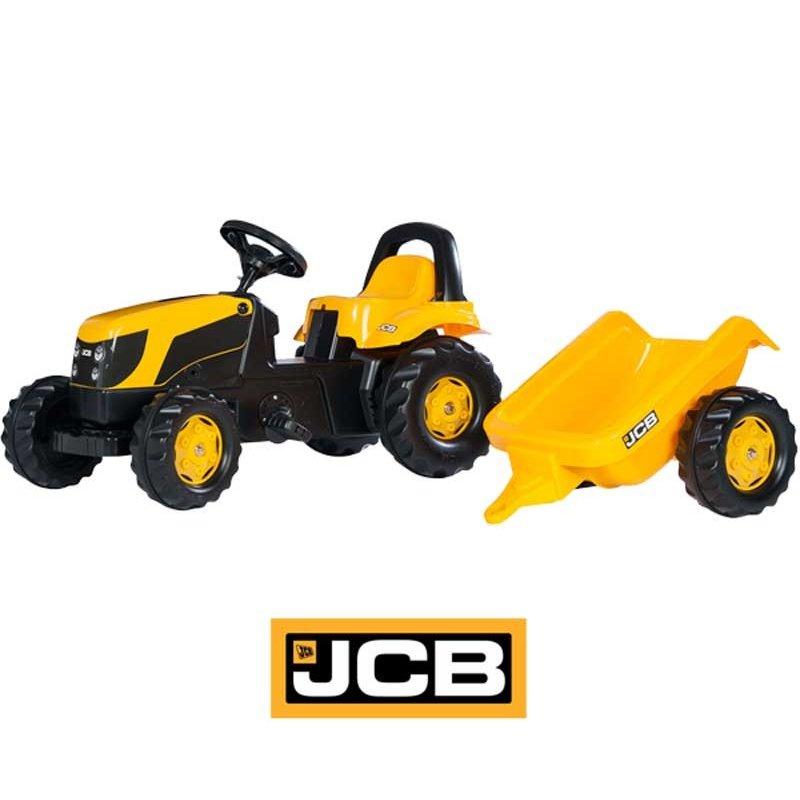 Трактор Rolly Toys на педалях JCB с прицепом 012619