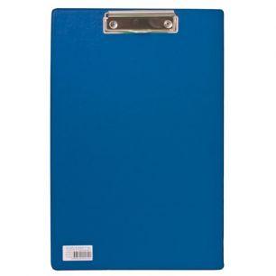 """Доска-планшет BRAUBERG """"Comfort"""", с верхним прижимом, А4, 23х35 см, картон/ПВХ, Россия, синяя, 222659"""