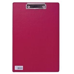 """Доска-планшет BRAUBERG """"Comfort"""", с верхним прижимом, А4, 23х35 см, картон/ПВХ, Россия, бордовая, 222660"""